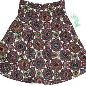 Honey and Lace Ventura A-Line Skirt Pockets Floral